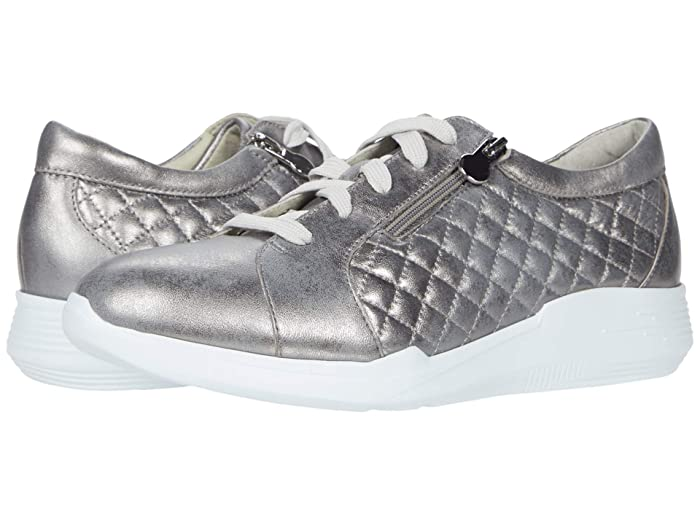 Munro Emmie (Metallic Grey Leather/Manmade Quilt) Women's Shoes
