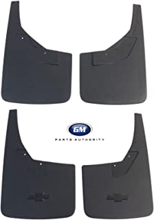 General Motors 2014-2018 Chevrolet Silverado Front & Rear Splash Guards Flat w/Contour Black