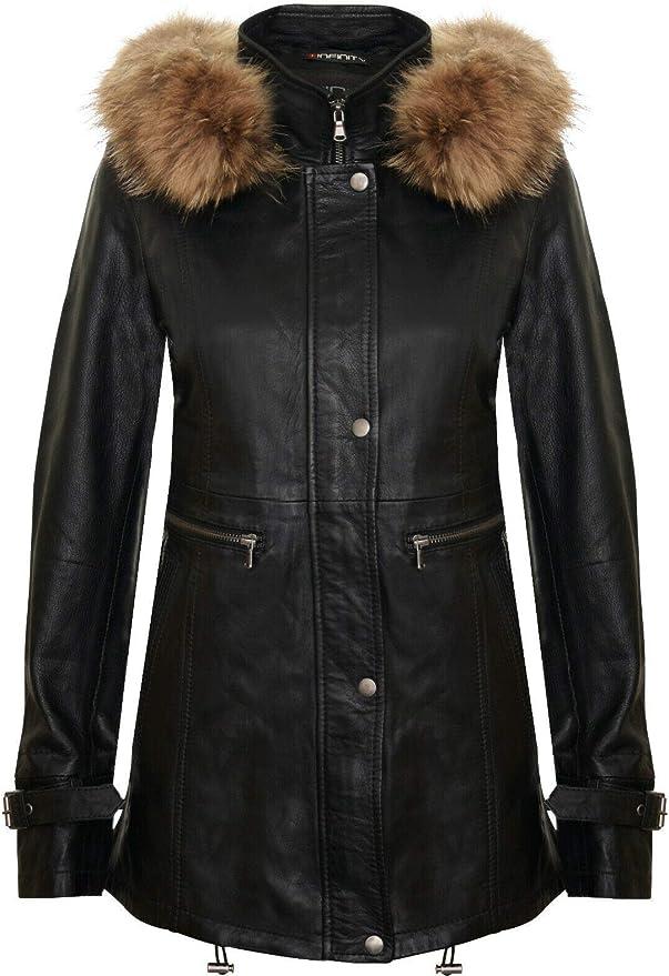 52 opinioni per Infinity Leather Trench Donna di Pelle con Cappuccio Staccabile