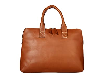 Florsheim Maurice Hard Waxed Leather Laptop Sleeve (Cognac) Bags