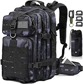 EMDMAK Military Tactical Backpack, 42L Large Military Pack Army 3 Day Assault Pack Molle Bag Rucksack for Outdoor Hiking C...