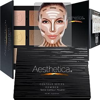 Aesthetica Cosmetics Contour Kit - Powder Contour, Highlighter & Bronzer - Fair to Medium Skin Tones