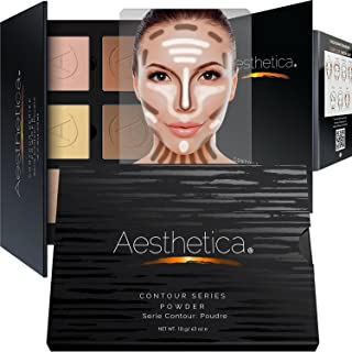 Aesthetica Cosmetics Contour Kit - Powder Contour, Highlighter & Bronzer - Fair to Medium Skin Tones