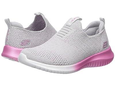 SKECHERS KIDS Sport Ultra Flex Metamorphic 81546L (Little Kid/Big Kid) (Light Gray/Pink) Girl