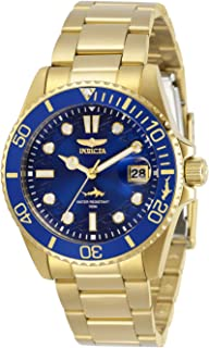 Invicta Women's Pro Diver Quartz Watch with Stainless Steel Strap, Gold, 20 (Model: 30484)