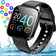 Smart Watch, Ip67 Waterproof Smartwatch for Android Phones, Sport Fitness Watch with Blood Pressure Heart Rate Monitor Act...