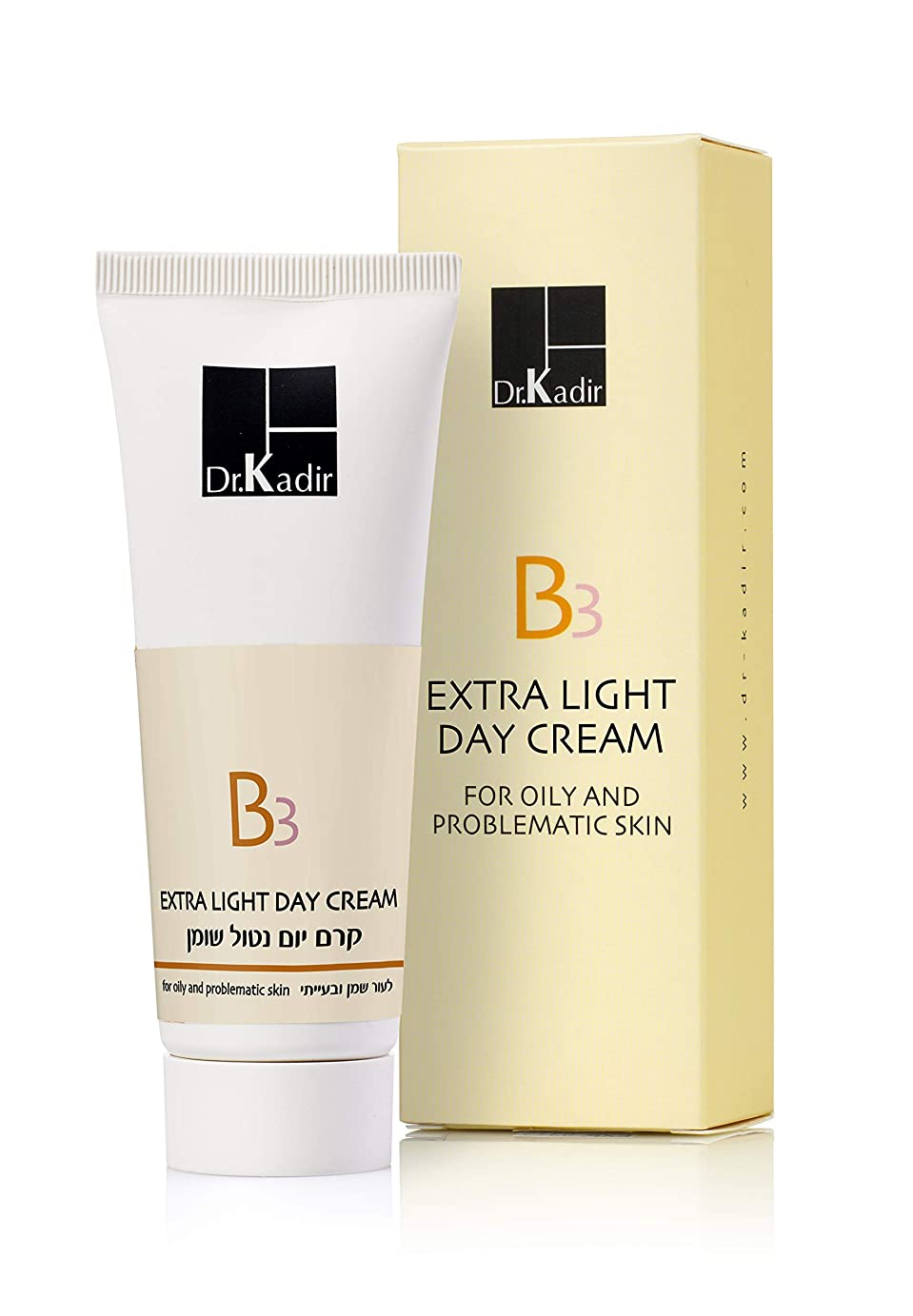 航空便批判良心的Dr. Kadir B3 Extra Light Day Cream for Oily and Problematic Skin 75ml