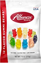 Albanese Candy, 12 Flavor Gummi Bears, 7.5-Ounce Bag, Pack of 12