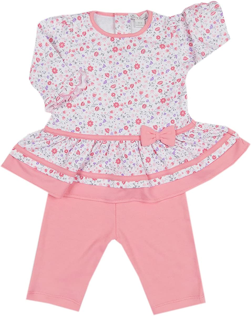 Kissy New arrival Baby-Girls Popular product Infant Fall Blossoms Leg with Dress Print
