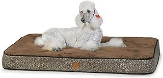 K&H Pet Products Superior Orthopedic Pet Bed Large Mocha Paw/Bone Print 40