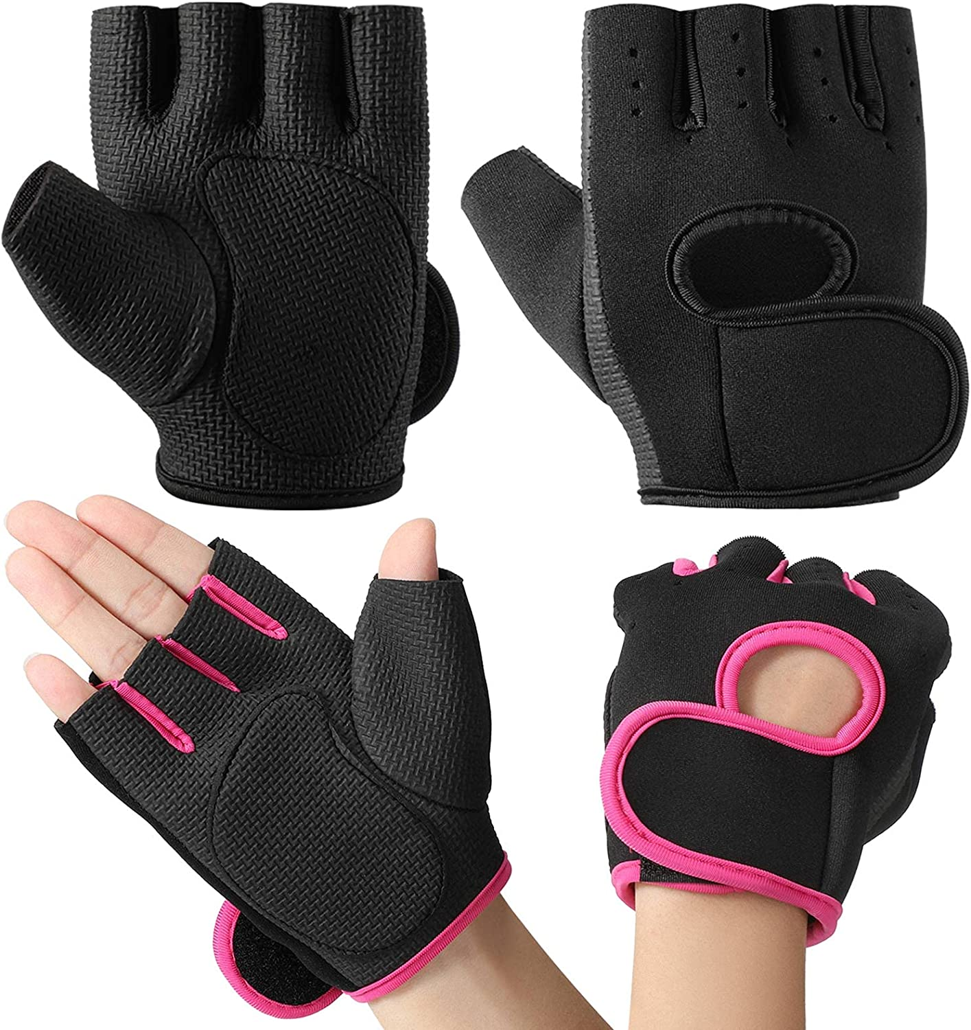 2 Pairs Women's Max 90% OFF Exercise Gloves Fitness Gym Boston Mall Worko Workout