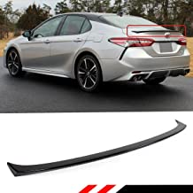 Cuztom Tuning Fits for 2018 2019 Toyota Camry LE XLE SE XSE Hybrid Sport Style Rear Trunk Lid Spoiler Wing- Painted Gloss Black Finish