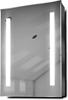 DIAMOND X COLLECTION Jace LED Bathroom Mirror Cabinet with Demister Pad, Sensor & Shaver k354