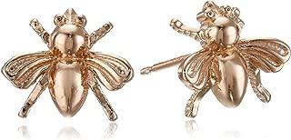 Sterling Silver Bumblebee Stud Earrings