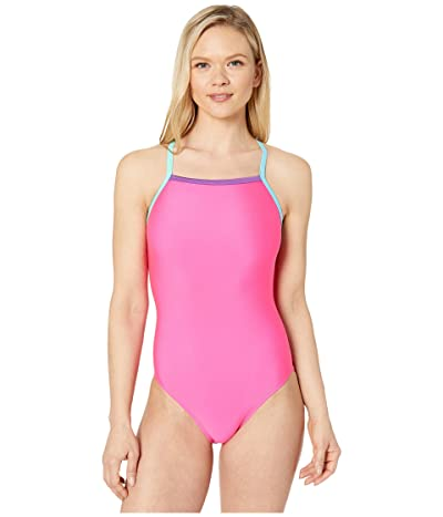 Speedo Solid Propel Back One-Piece (Electric Pink) Women