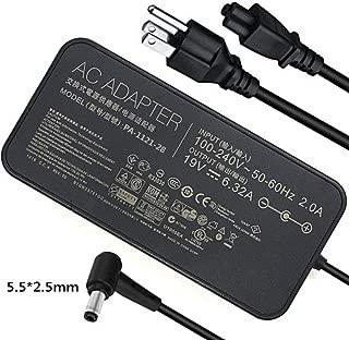 120w 19V 6.32A Laptop Charger for ASUS ROG GL502VT GL502V GL502 GL502VT-DS71 Gaming Laptop ADP-120ZB BB, ADP-120RH B, PA-1121-28, A15-120P1A, N120W-02 Series Laptops