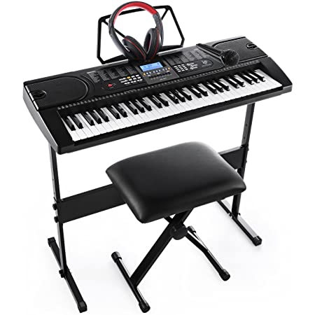 Joymusic 61-Key Pack with Headphones,Microphone,Stand,Stool,and Power Supply-The Electronic Keyboards with The Joy trademarks are on Sale Randomly. (JK-61-KIT)