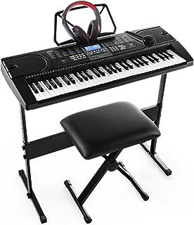 Joymusic 61-Key Pack with Headphones,Microphone,Stand,Stool,