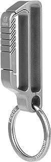 FEGVE Belt Keychain Belt Loop Key Holder,Anti-Lost Heavy Duty Titanium Belt Key Holder Key-Clip with Detachable Keyring for Men