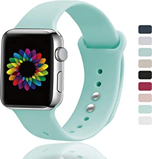 UPOLS Compatible for Apple Watch Band 38mm 40mm 42mm 44mm Women Men, Soft Silicone Sport Band, Strap Compatible for iWatch Series 4/3/2/1, S/M M/L