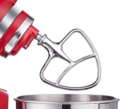 Burnished Stainless Flat Beater for KitchenAid 4.5-5 Qt. Tilt-Head Stand Mixers Accessory Dishwasher-Safe Blade by Gvode