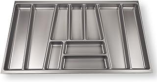Sotech ORGA-Box® II Bac à Couvert (462 x 805 mm) pour Nobilia Tiroir de 90 mm Gris Argenté