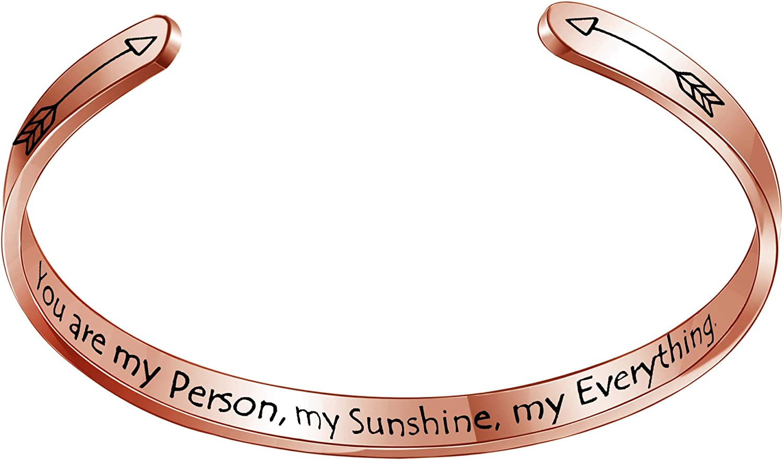 CAROMAY Wife Bangles Husband Cuff Bracelet Valentines Day Presen