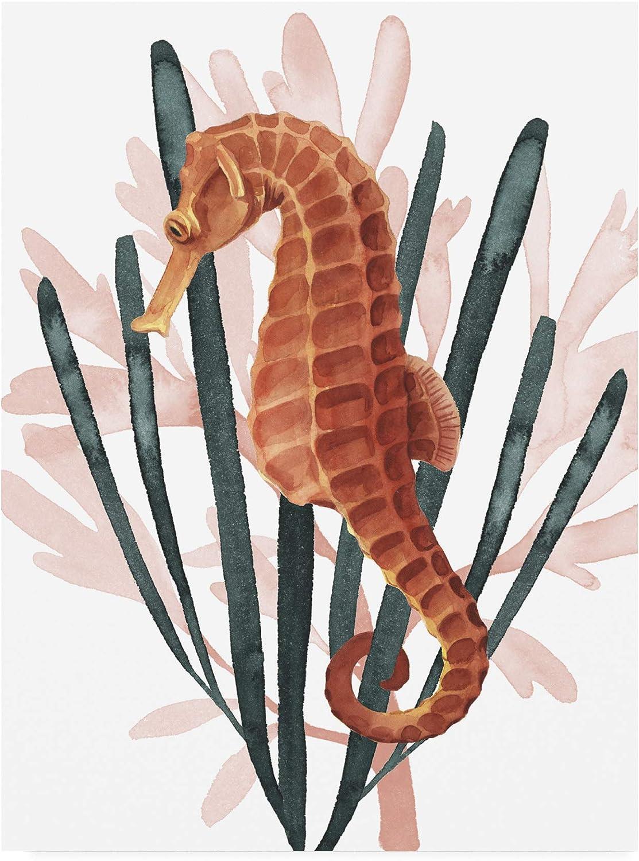 Trademark Fine Art Seahorse Treasures Genuine II 18x24 by Grace Popp Max 70% OFF