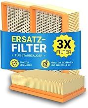 Filtr harmonijkowy płaski 3 sztuki zamiennik do Kärcher 2.863-005.0 WD4 WD5 WD6 MV4 MV5 MV6 Hepa filtr powietrza wylotoweg...