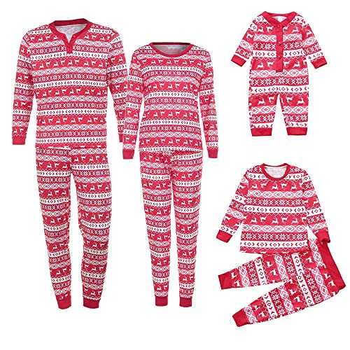 665f87ffbf PLOT❤Family Matching Pjs for Christmas Deer Tops Blouse Pants Pajamas  Clothes Outfits