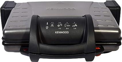 Kenwood HG210 Compacte grillplaat, afneembare antiaanbakplaten, 3 posities, opening 180 graden, vetopvangbak, temperatuurw...