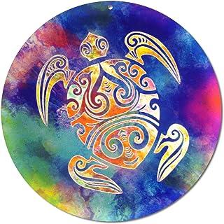 """Sun catcher"""" Tartaruga Maori"""" No. 15. Ø 20 cm/simbolo ornamento/immagine della finestra appendiabiti/vetro acrilico infran..."""