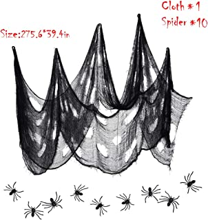 Halloween Creepy Cloth, Black Party Favors Hanging Scary Halloween Decorations, House Table Big Halloween Spider Web
