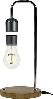 United Entertainment - Lámpara magnética flotante con base de madera de roble.