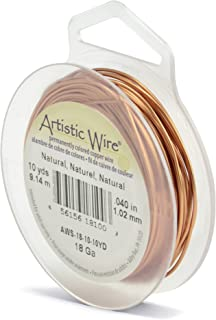 Beadalon Artistic, 18 gauge, Natural Color, 10 yd (9.1 m) Craft Wire