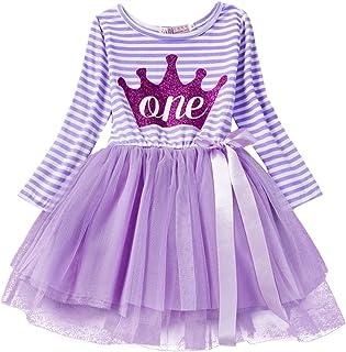Carolilly Toddler Newborn Baby Girls Sweet Unicorn Sleeveless Dress Lace Tulle Princess Dress for Birthday Wedding 0-6T