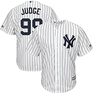 Majestic Aaron Judge New York Yankees MLB Kids White Home Cool Base Replica Jersey (Kids 5/6)