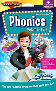 Phonics - Vols. 1 & 2 - Audio CDs & Book by Rock 'N Learn