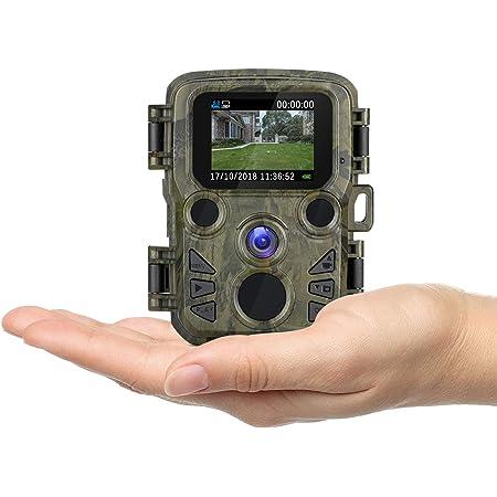 Enlleo【最新版】 防犯カメラ トレイルカメラ 小型 1080P フルHD 屋外 監視 熱感知 赤外線センサー 監視カメラ 配線不要 電池式 防水防塵IP66 庭/駐車場/野外適用