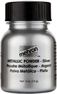 Mehron Makeup Metallic Powder (.5 ounce) (Silver)