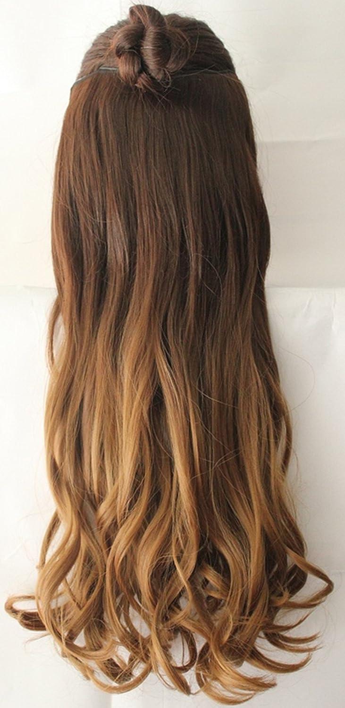 Extensiones de cabello para cabeza completa, 64 cm.: Amazon ...