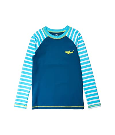 Hatley Kids Great White Sharks Long Sleeve Rashguard (Toddler/Little Kids/Big Kids) (Blue) Boy