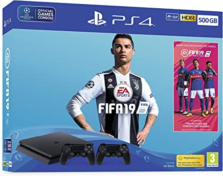 FIFA 19 500GB PS4 Bundle - with second DUALSHOCK 4, FIFA 19 Ultimate Team Icons and Rare Player Pack - PlayStation 4 [Importación inglesa]