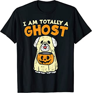 Bichon Frise Totally Ghost Funny Halloween Costume Dog Owner T-Shirt