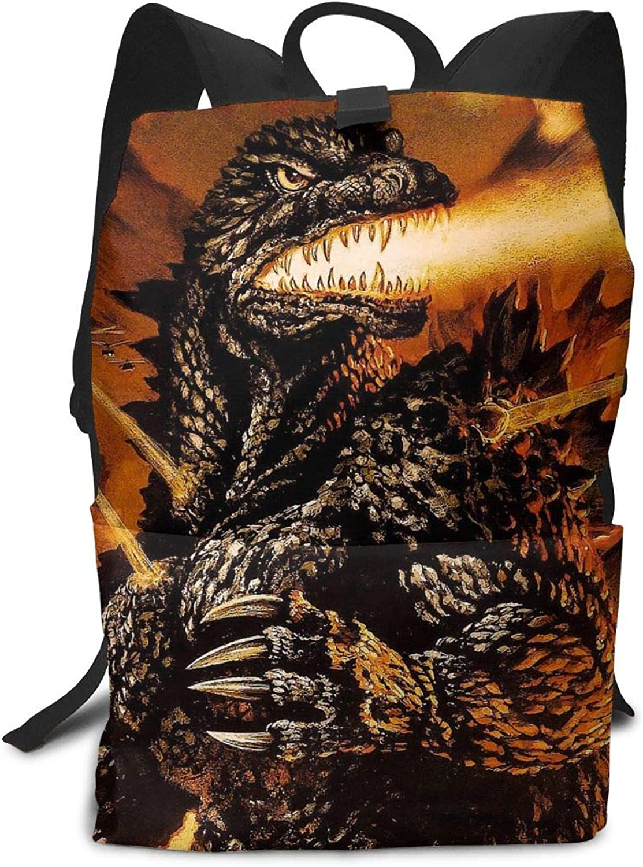 Kaiju Godzilla Multi-Function Backpack College Bookbag