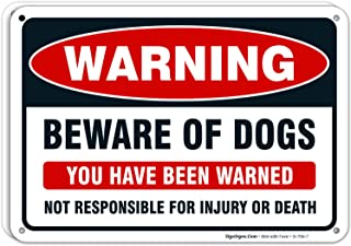 Beware Of Dog Sign Metal