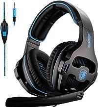 Sades SA810 Auriculares Gaming - 3.5mm Cancelación De Ruido Gaming Headset, Juego Auriculares con micrófono para Nueva Xbox One PS4 portátil Mac Tablet(Negro)