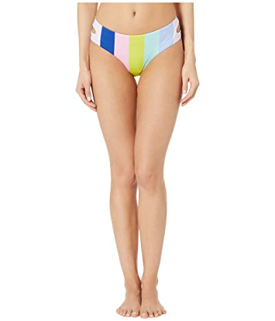 THE BIKINI LAB Prism Stripe Cut Out Hipster Bottoms (Multicolored) Women