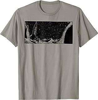 Retro Style Sci-Fi Rocket on the Moon T-Shirt