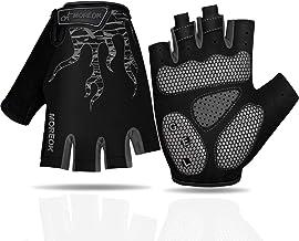 Faneam Mtb Half Finger Cycling Gloves Gel Padded Mitts Anti-slip Shock-absorbing Fingerless Gloves Outdoor Sports Summer C...